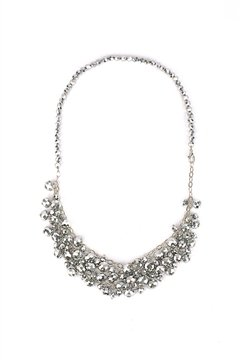 Silver Shimmer Necklace with Beads