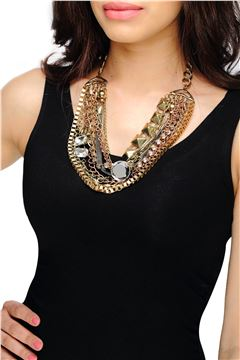 CHUNKY MULTI CHAIN NECKLACE
