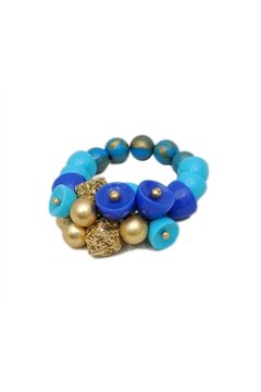 Blue Bead Stretch Bracelet