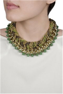 Shades of Green Collar Necklace