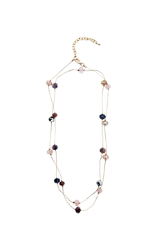 Dainty Blush Pink Glass Bead Necklace