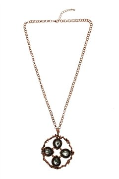 Stylish Rose-Gold Stone Necklace