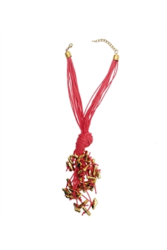 Brink Pink Knotty Necklace