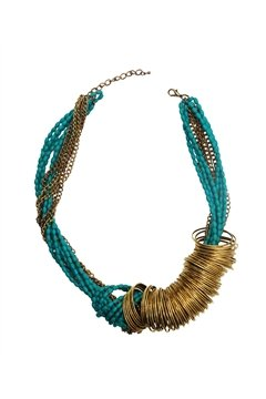Spinning Around Turquoise Necklace