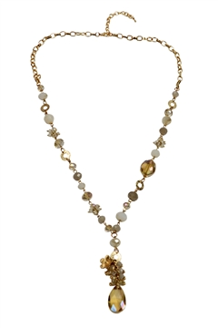 Champagne Beads Necklace