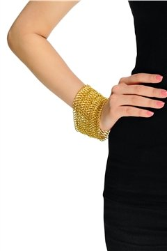 Classic Gold Mesh Bracelet Cum Necklace