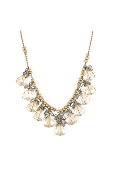 Crystal Drops Princess Antique Gold Choker Necklace