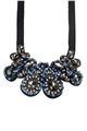 Your Love Affair Blue Crystal Diamante Statement Bib Necklace