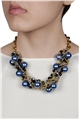 Blue Oversized Pearl Necklace
