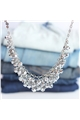 Silver Shimmer Crystal Stone Necklace