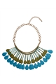 Mettalic Blue Necklace