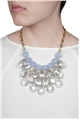 Blue Ice Chandelier Crystal Drops Statement Necklace