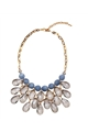 Blue Ice Chandelier Necklace