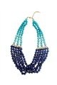 Shades of Blue Beaded Necklace