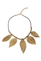 Paper Leaf Gold Necklace