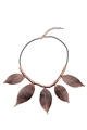 Paper Leaf Copper Necklace