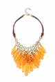Flaming Orange Chandelier Necklace