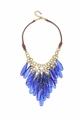 Electric Blue Chandelier Necklace